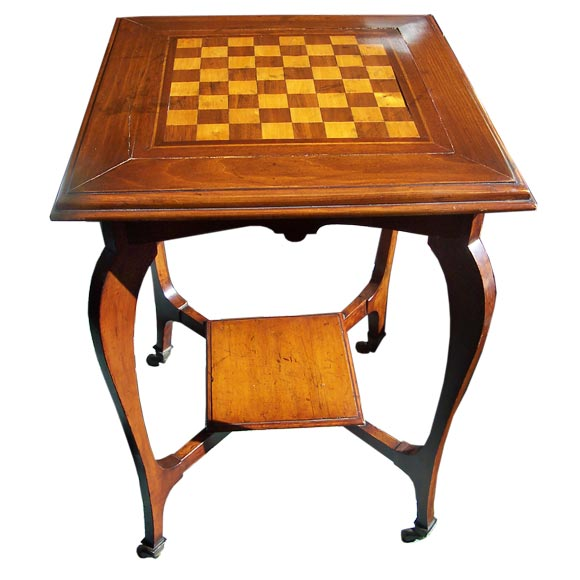 Antique Chess Table At 1stdibs