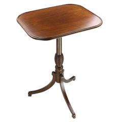 English Georgian Mahogany Tripod-Base Table