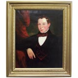 Large English Antique Oil Portrait of a Young Gentleman