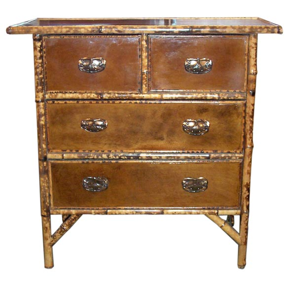 vintage kitchen cabinets leathered bamboo chest of drawers at 1stdibs 27985