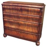 Exceptional Louis Phillippe Serpentine Bombay Chest of Drawers