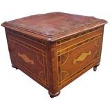 Antique Inlaid Box Stool