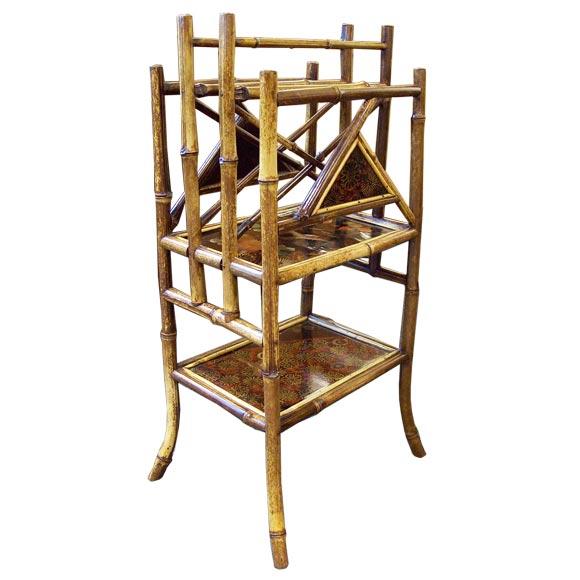 antique bamboo canterbury at 1stdibs