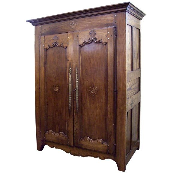Antique French Cherry Armoire At 1stdibs