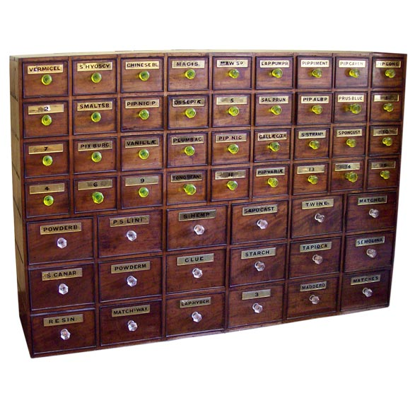 Large Antique Apothecary Chest At 1stdibs
