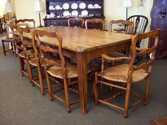 Antique French Pine Dining Table At 1stdibs
