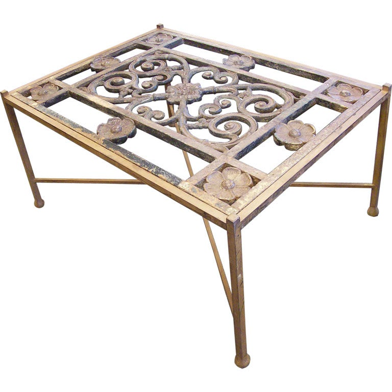 Antique Window Grille Coffee Table At 1stdibs