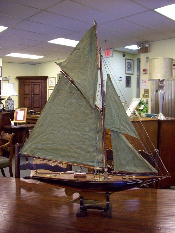 Antique English Pond Yacht At 1stdibs