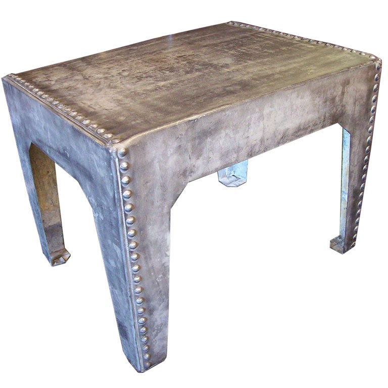 Small Antique Metal Table At 1stdibs
