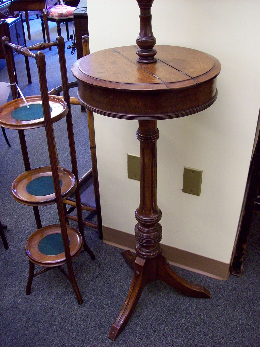 Antique Mahogany Shaving Stand At 1stdibs