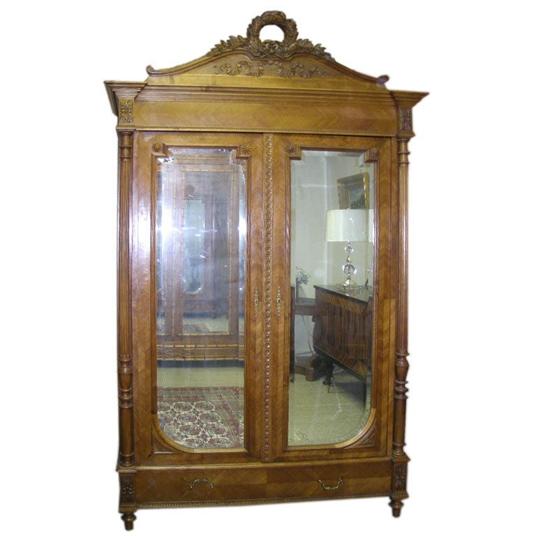 louis xvi style two door armoire at 1stdibs. Black Bedroom Furniture Sets. Home Design Ideas