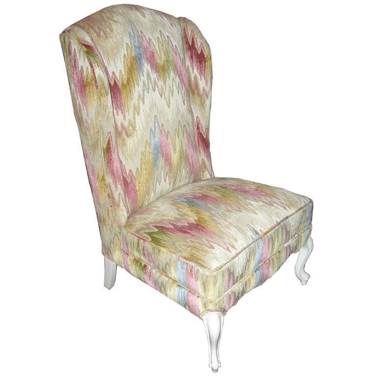 Wing Back Slipper Chair