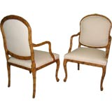 Pair of French Carved Arm Chairs