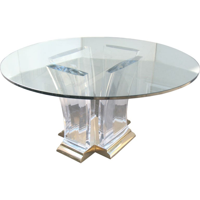 Gary Gutterman Clear Acrylic Table For Axium At 1stdibs
