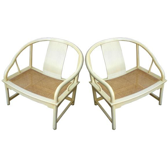 Pair of Baker Far East Lounge Chairs