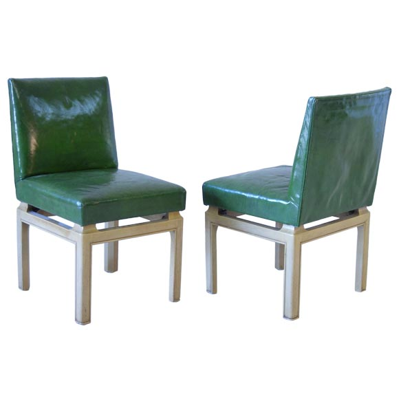 Set Of 8 Leather Baker Dining Chairs At 1stdibs