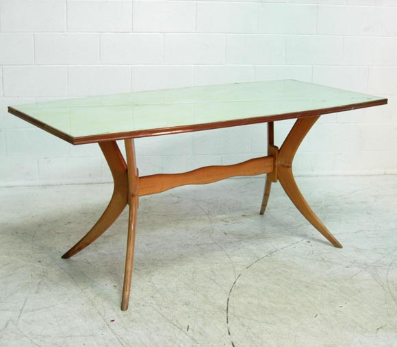 Mid-20th Century Italian Dining Table and 6 Chairs For Sale