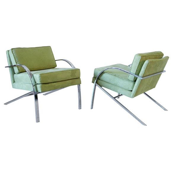 Pair of Chairs in the Style of Paul Tuttle