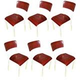 Set of 6  Rene Herbst French Bakelite Chairs