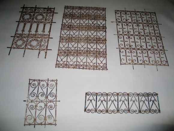 Five islamic wrought iron wall decorations or sculptures for sale at 1stdibs - Wrought iron decorative wall panels ...