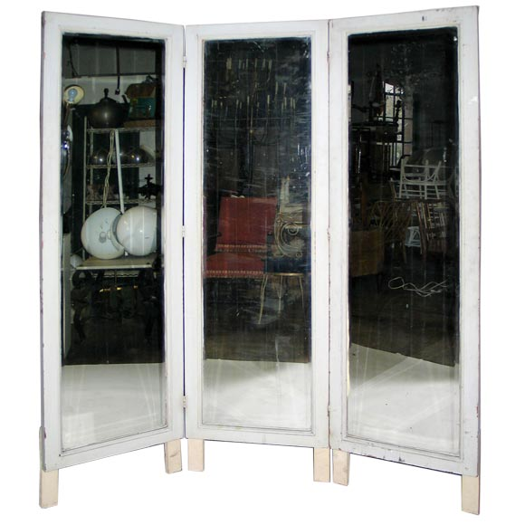 French Three Panel Dressing Mirror Screen At 1stdibs