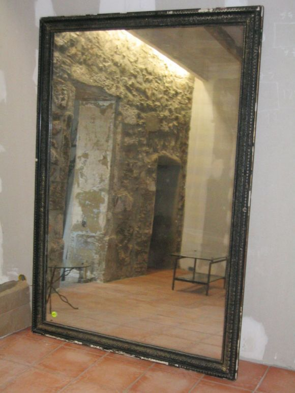Large french napoleon iii mirror for Full length glass mirror