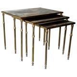 Set of Faux Bamboo Nesting Tables by BAGUES