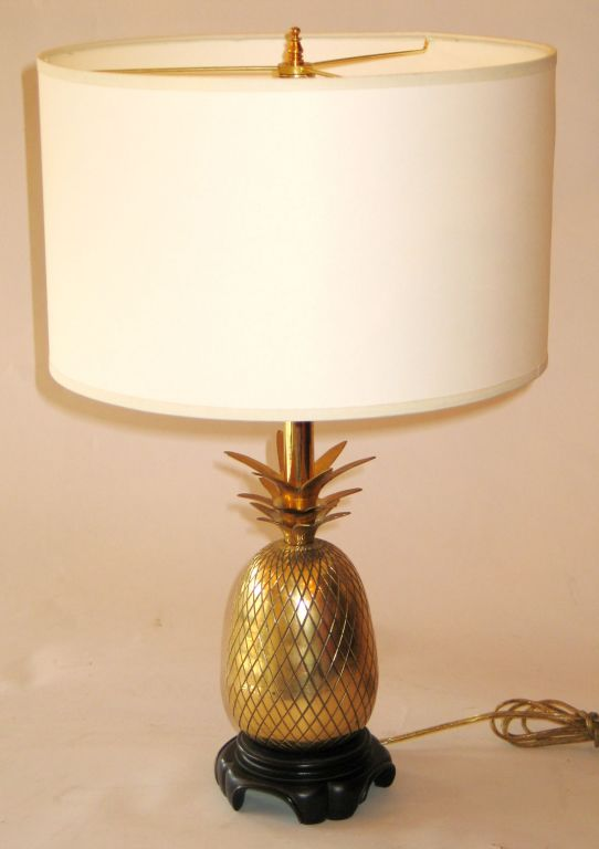 pair of solid brass pineapple lamps attributed to charles. Black Bedroom Furniture Sets. Home Design Ideas