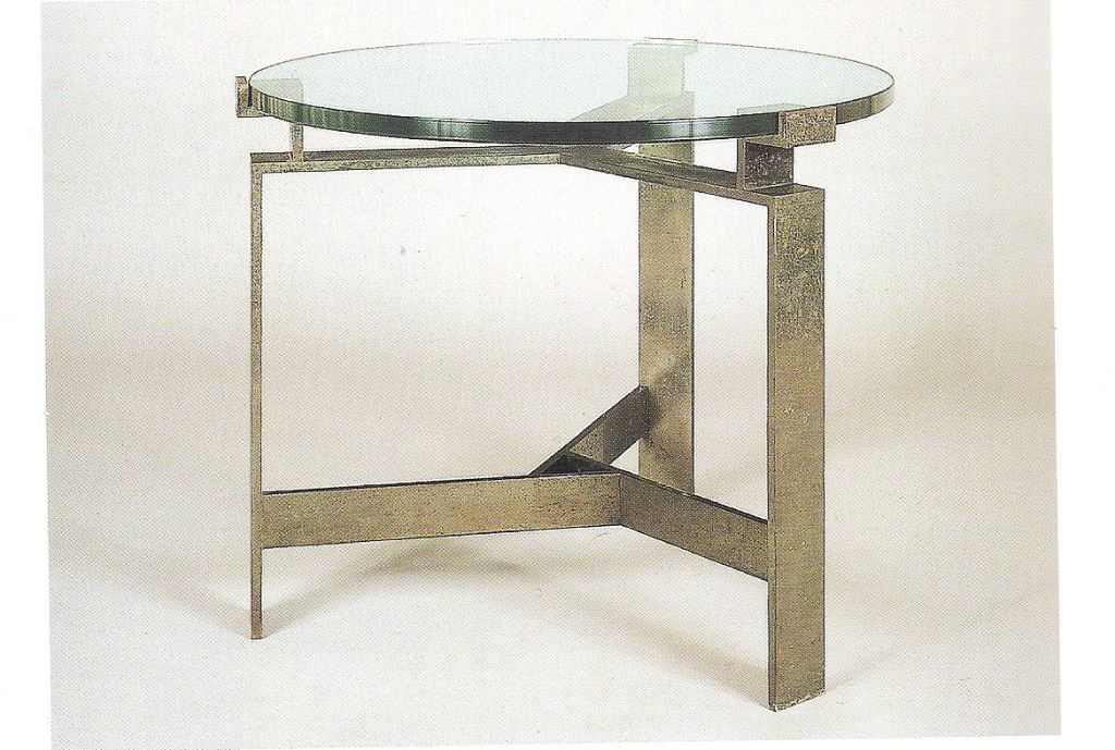 Pair French Mid-Century Style Bronzed Iron End Tables, Manner of Jacques Quinet For Sale 3