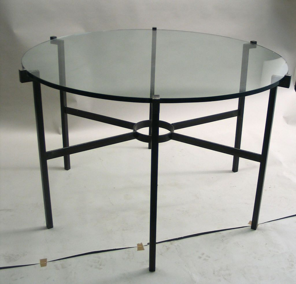 French Modern Neoclassical Dining Table in the Manner of Marc Duplantier 2
