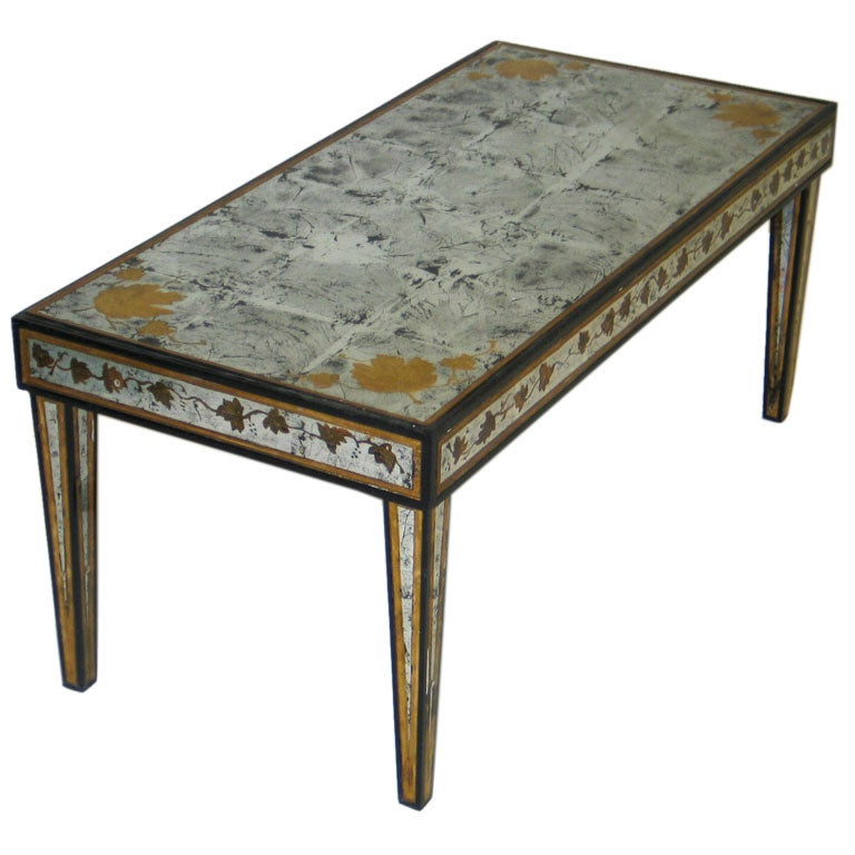 Silver Leaf Cocktail Table By Jansen At 1stdibs