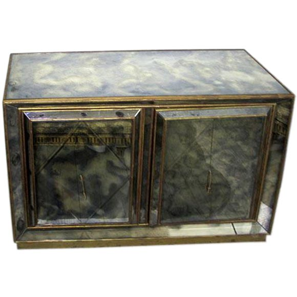 Italian Mid-Century Modern Neoclassical Mirror Commode / Chest of Drawers