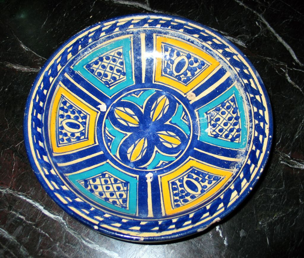 3 Hand-painted Islamic Platters / Bowls 1