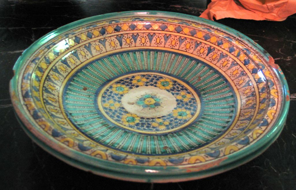 3 Hand-painted Islamic Platters / Bowls 4