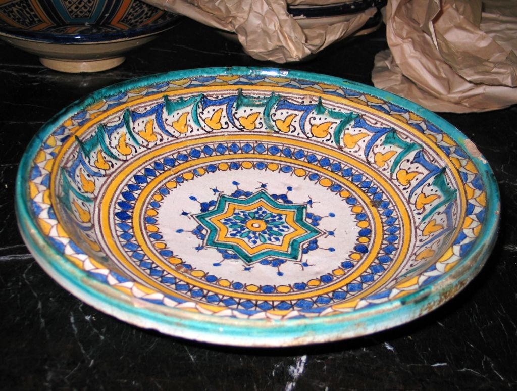 3 Hand-painted Islamic Platters / Bowls 5