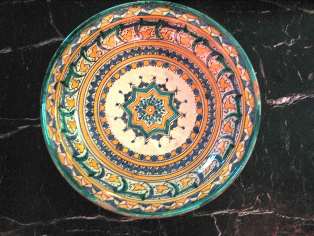 3 Hand-painted Islamic Platters / Bowls 6