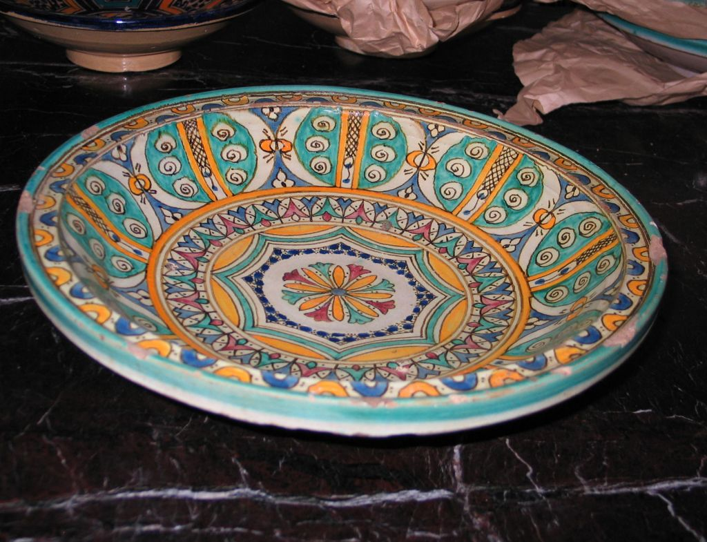 3 Hand-painted Islamic Platters / Bowls 7