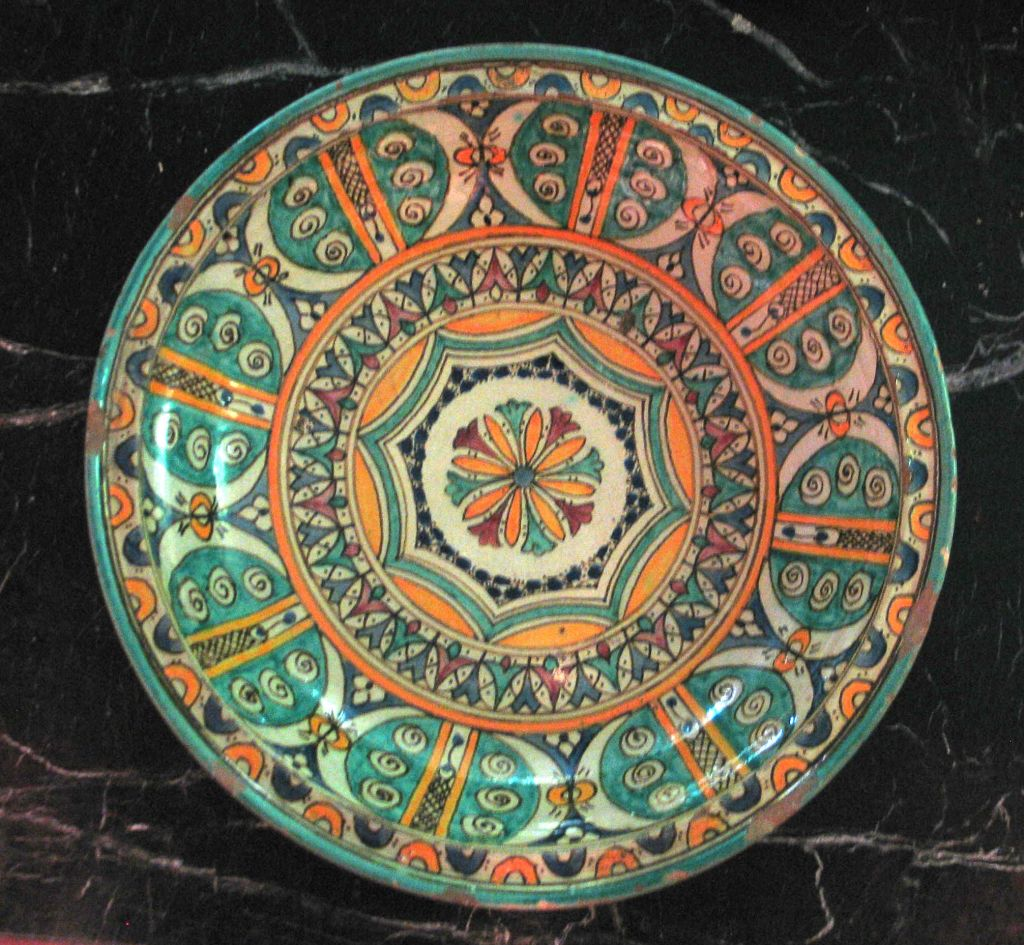 3 Hand-painted Islamic Platters / Bowls 8