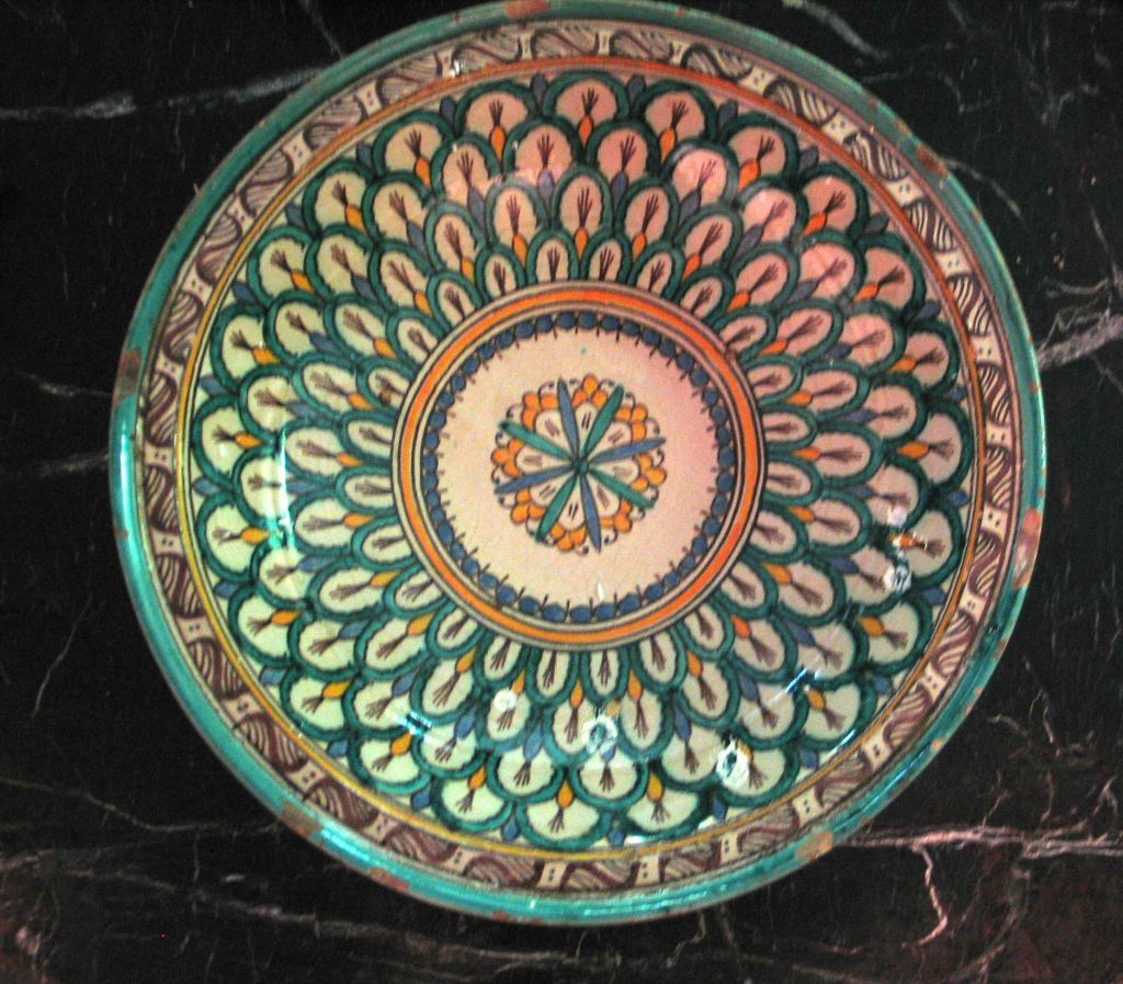 3 Hand-painted Islamic Platters / Bowls 9