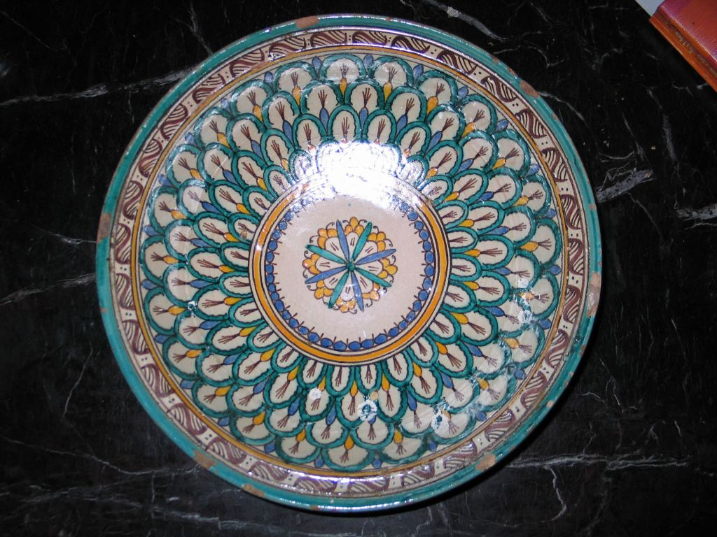 3 Hand-painted Islamic Platters / Bowls 2