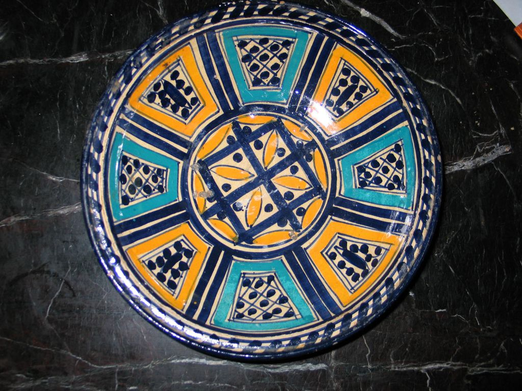 3 Hand-painted Islamic Platters / Bowls 10