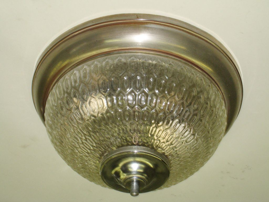 Mid-Century Modern Two French Mid-Century Textured Glass Flush Mount Fixtures For Sale