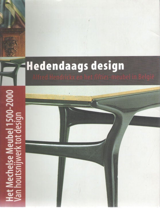 Important Pair of Belgian Mid-Century Modern Lounge Chairs by Alfred Hendrickx 7