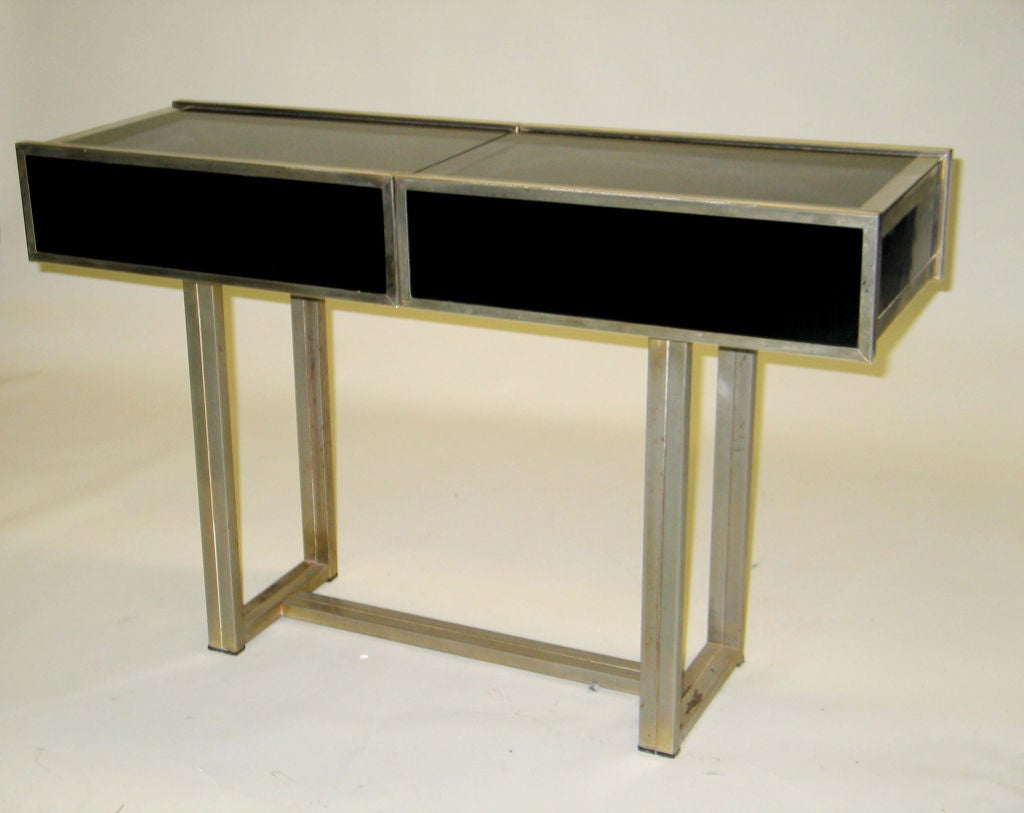 Italian design expandable console bar attributed to willy rizzo at 1stdibs - Expandable console tables ...