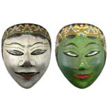 Pair of Indonesian Tribal Masks