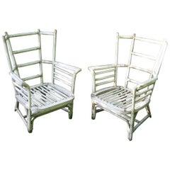 Pair of Modernist Armchairs  in Manner of Robert Mallet Stevens