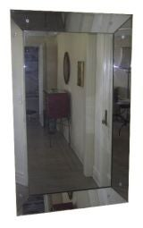 Large Venetian Mirror  with Concave Mirror Frame