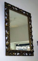 Italian 1930s Hand-Carved Mirror