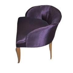 Belgian 1930s Vanity Chair by Van der Borcht Freres