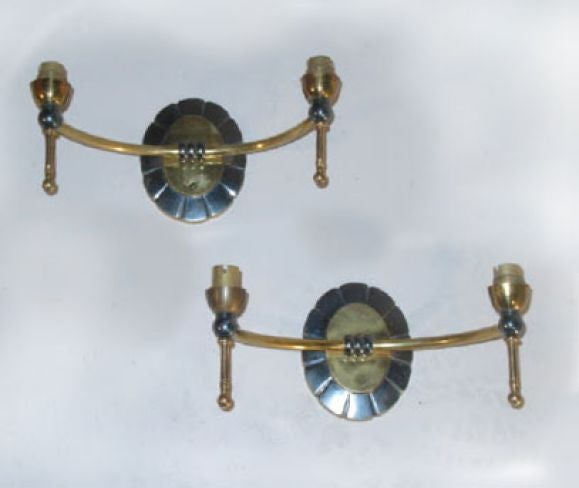 Pair of Modern Traditional Double Arm Sconces 1